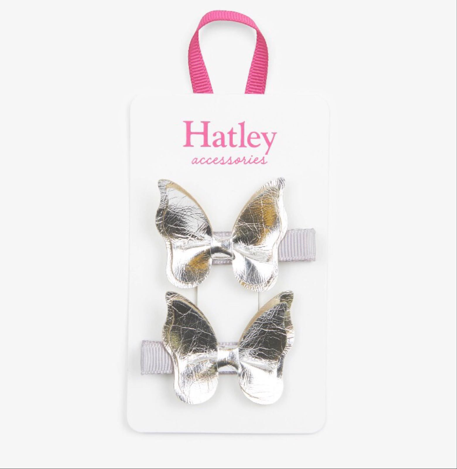 Hatley Silver Glimmer Bowterflies Hair Clips