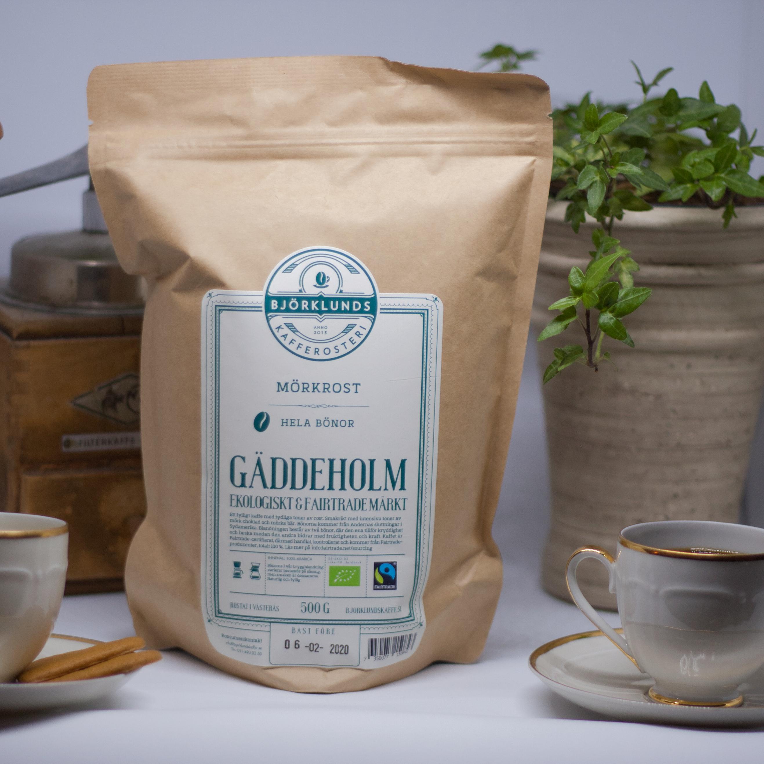Kaffe Gäddeholm mörk, 500g
