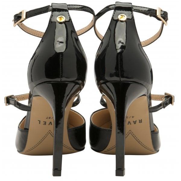 Ravel Doyle Black Patent Pu Strappy Heel