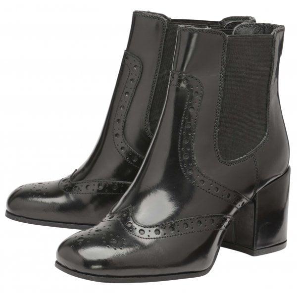 Ravel Cove black high shine leather