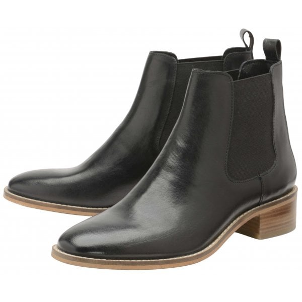 Ravel Dickens black leather ankle boot