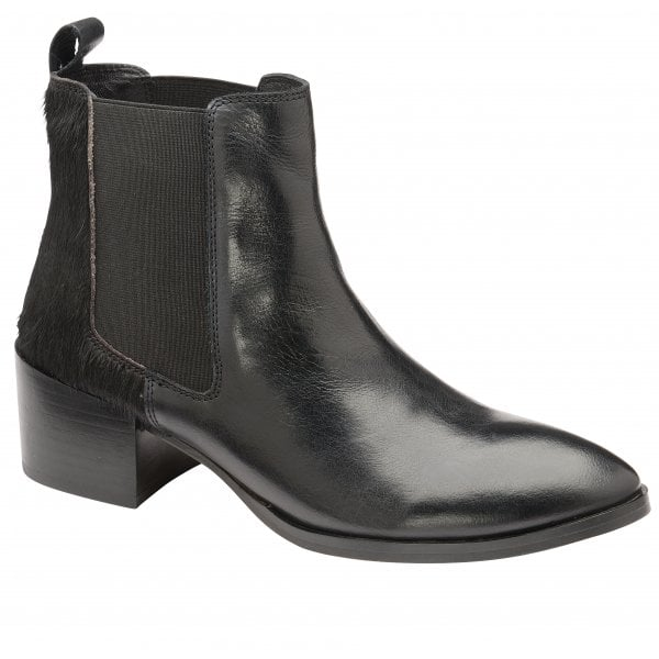 Ravel Saxman black leather ankle boot