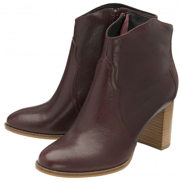 Ravel Foxton Burgundy Ankle Boots