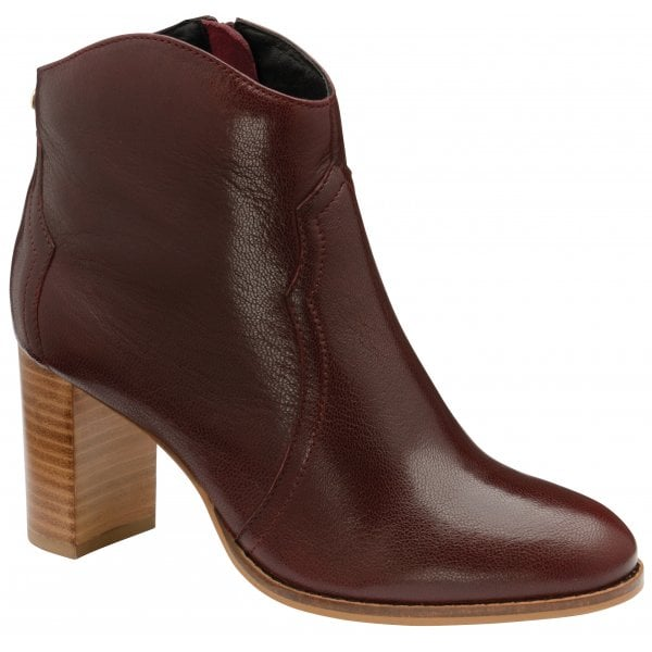Ravel Foxton Burgundy Ankle Boots