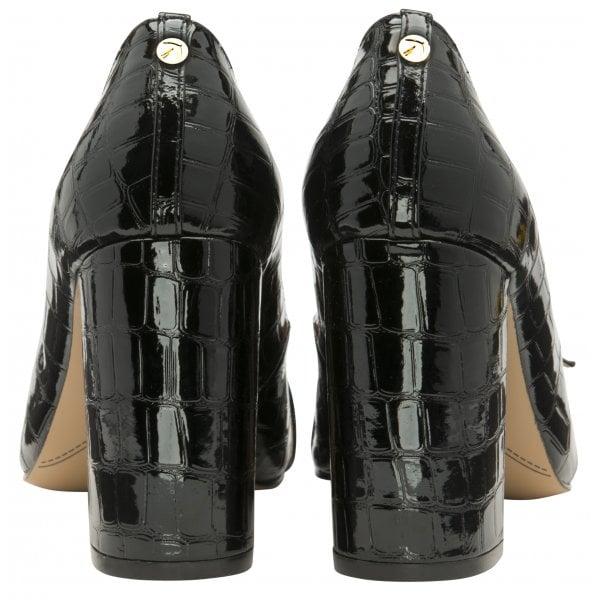 Ravel Lincoln Black Patent Croc Block Heel