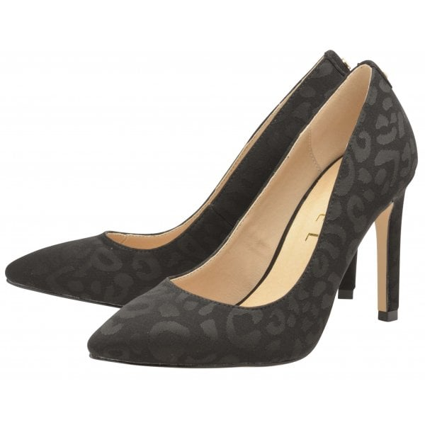 Ravel Edson Black Leopard Court Shoe