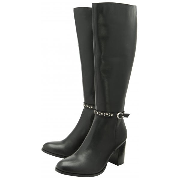 Ravel Roxburgh Black Leather Knee Boot