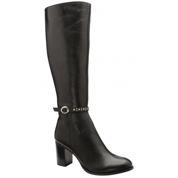 Ravel Roxburgh Black Leather Knee Boot