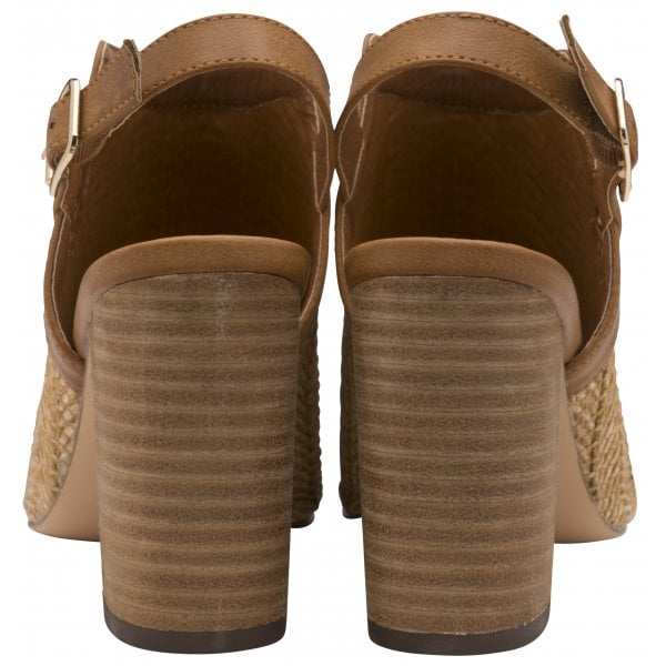 Ravel Clifton Tan PU Block Heel