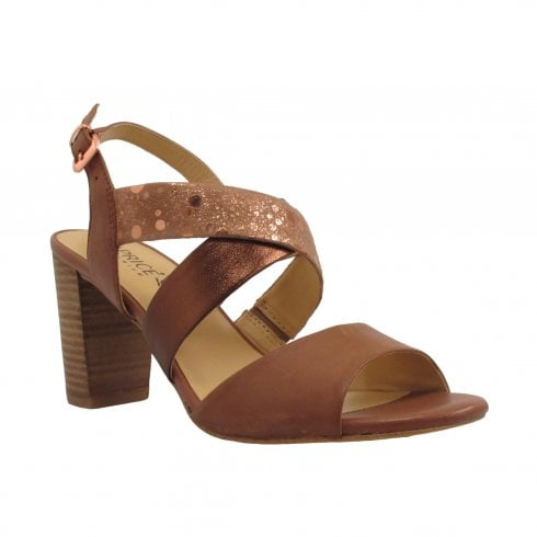 Caprice Brown Bronze Strappy Sandal