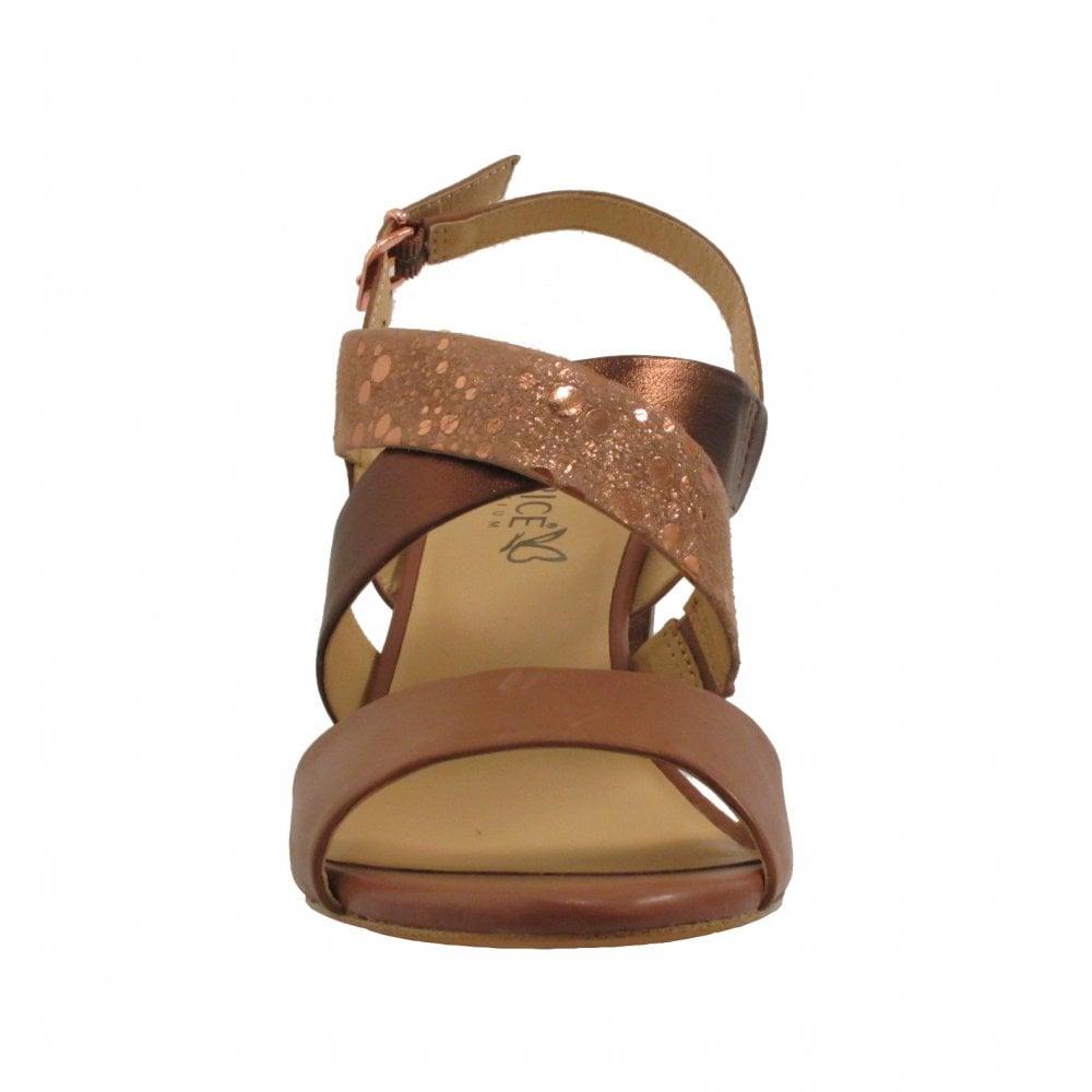 Caprice Brown Bronze Strappy Sandal