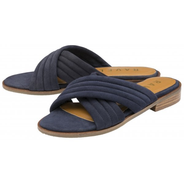 Ravel Sarina Navy Suede Cross Mule