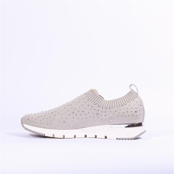 Caprice Grey Knit Diamanté Pump tv