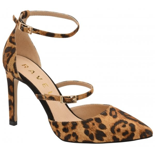Ravel Doyle Leopard Suede Strappy Heel