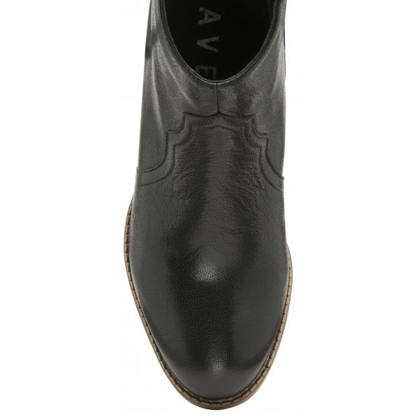Ravel Foxton Black Leather Ankle Boot