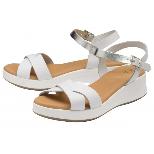 Ravel Kilcoy White Leather Chunky Sandal
