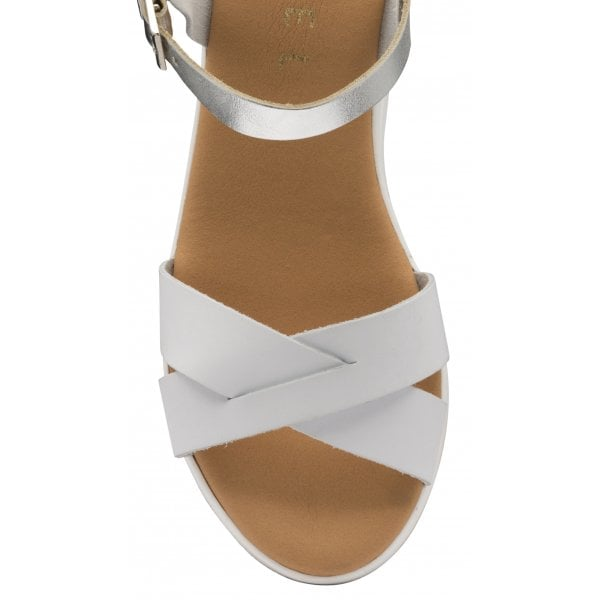 Ravel Kilcoy White Leather Chunky Sandal