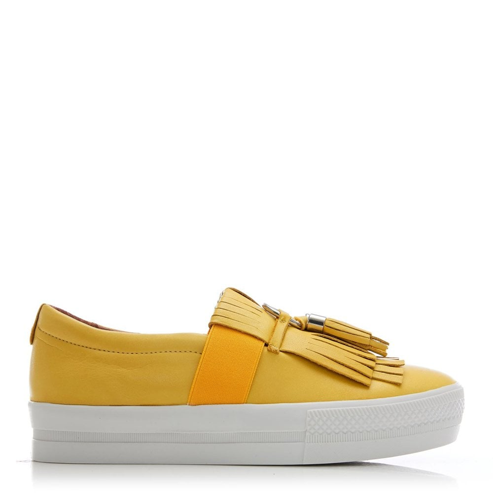 Moda in Pelle Ardena Yellow Tassle Leather