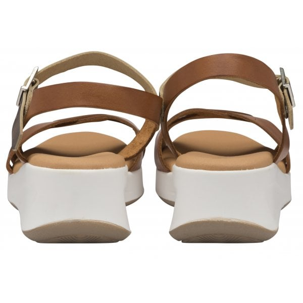 Ravel Kilcoy Tan Leather Chunky Sandal