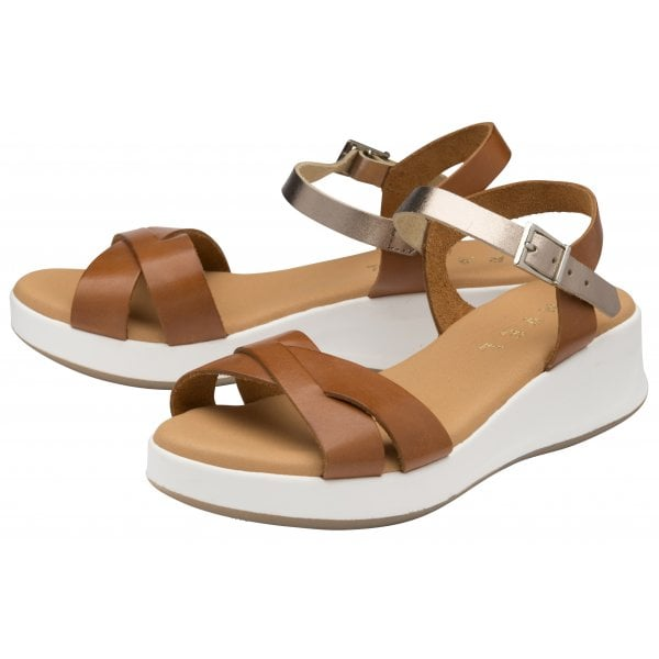 Ravel Kilcoy Tan Leather Chunky Sandal