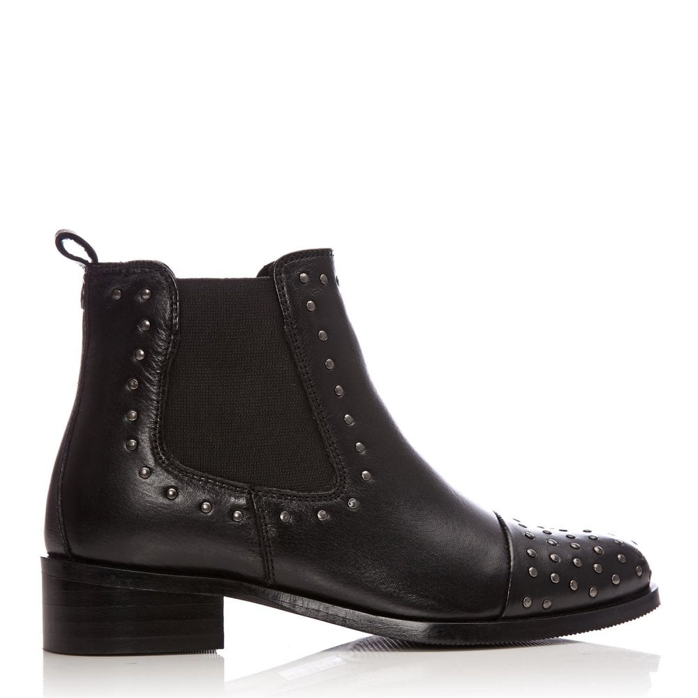 Moda in Pelle  Nurela Black studded Chelsea Boot