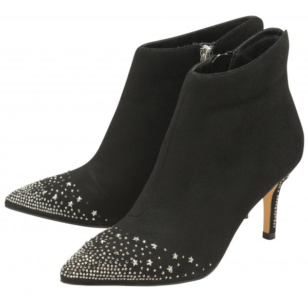 Ravel Renwick Black Suede Diamanté Encrusted Toe