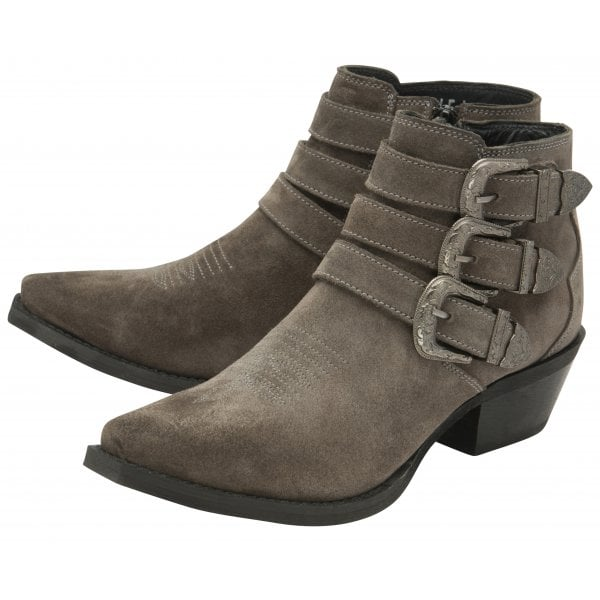 Ravel Coleville Taupe Suede Cowboy Ankle Boot