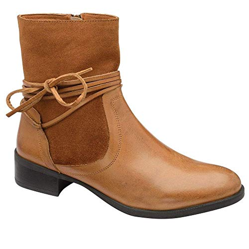 Ravel Marshall Tan Leather Suede Ankle Boot