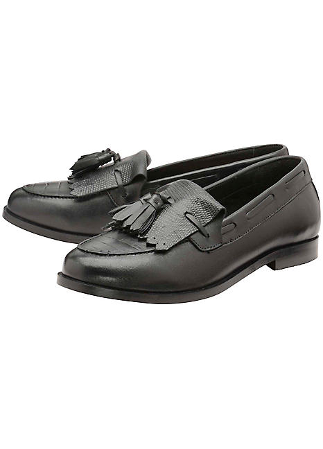 Ravel Tilden Black Croc Shoes