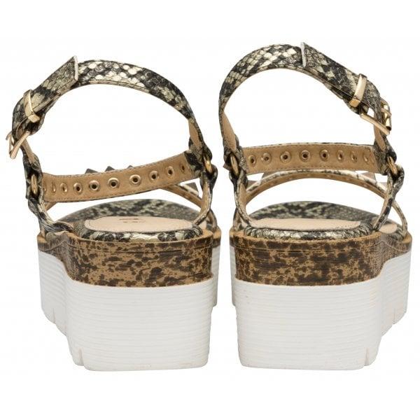 Ravel Manilla Taupe Snake PU RockStud  Sandal