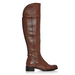 Moda in Pelle Turina Over the Knee Boot Tan