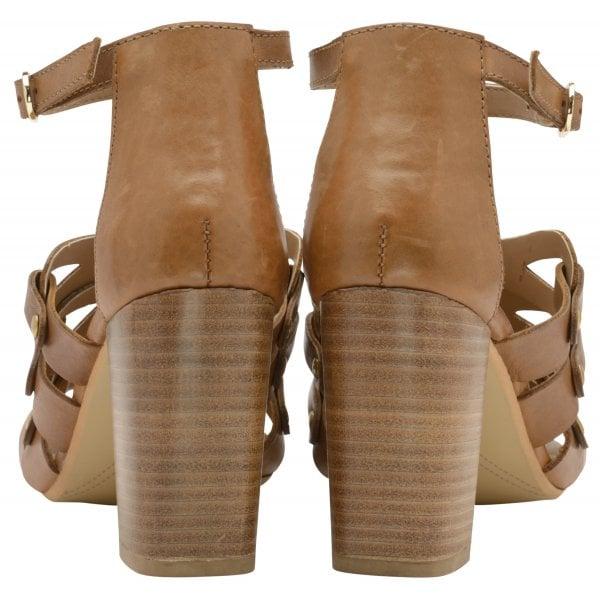 Ravel Jackson Tan Leather Block Heel Sandal