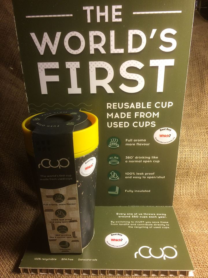 rCUP 12oz Recycled Coffee Cups