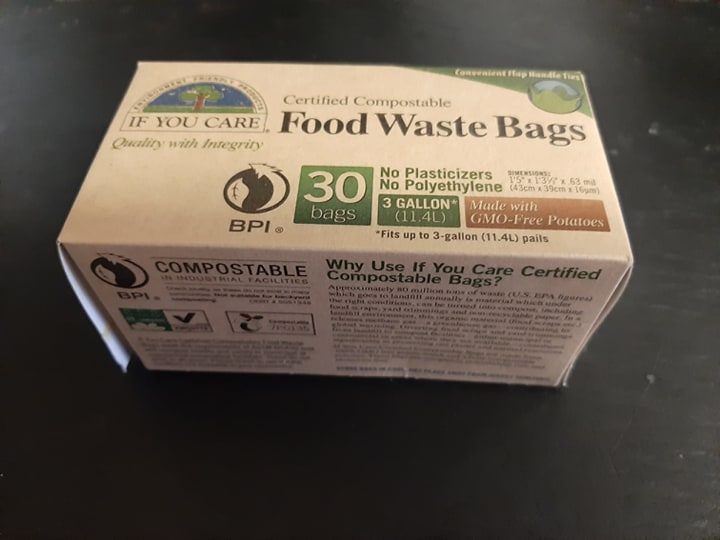 Food Waste Bags - Compostable 30 or 100