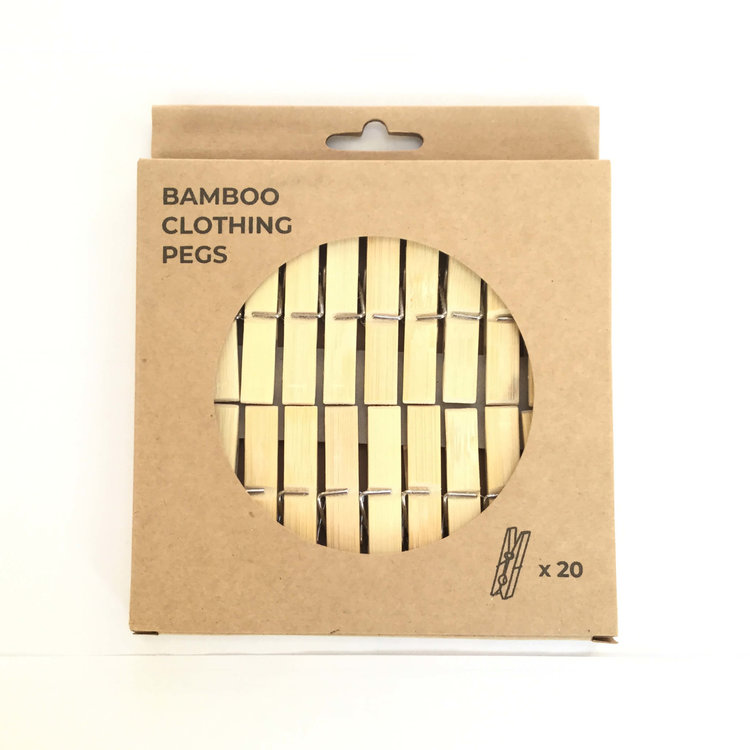 Clothes Pegs Bamboo