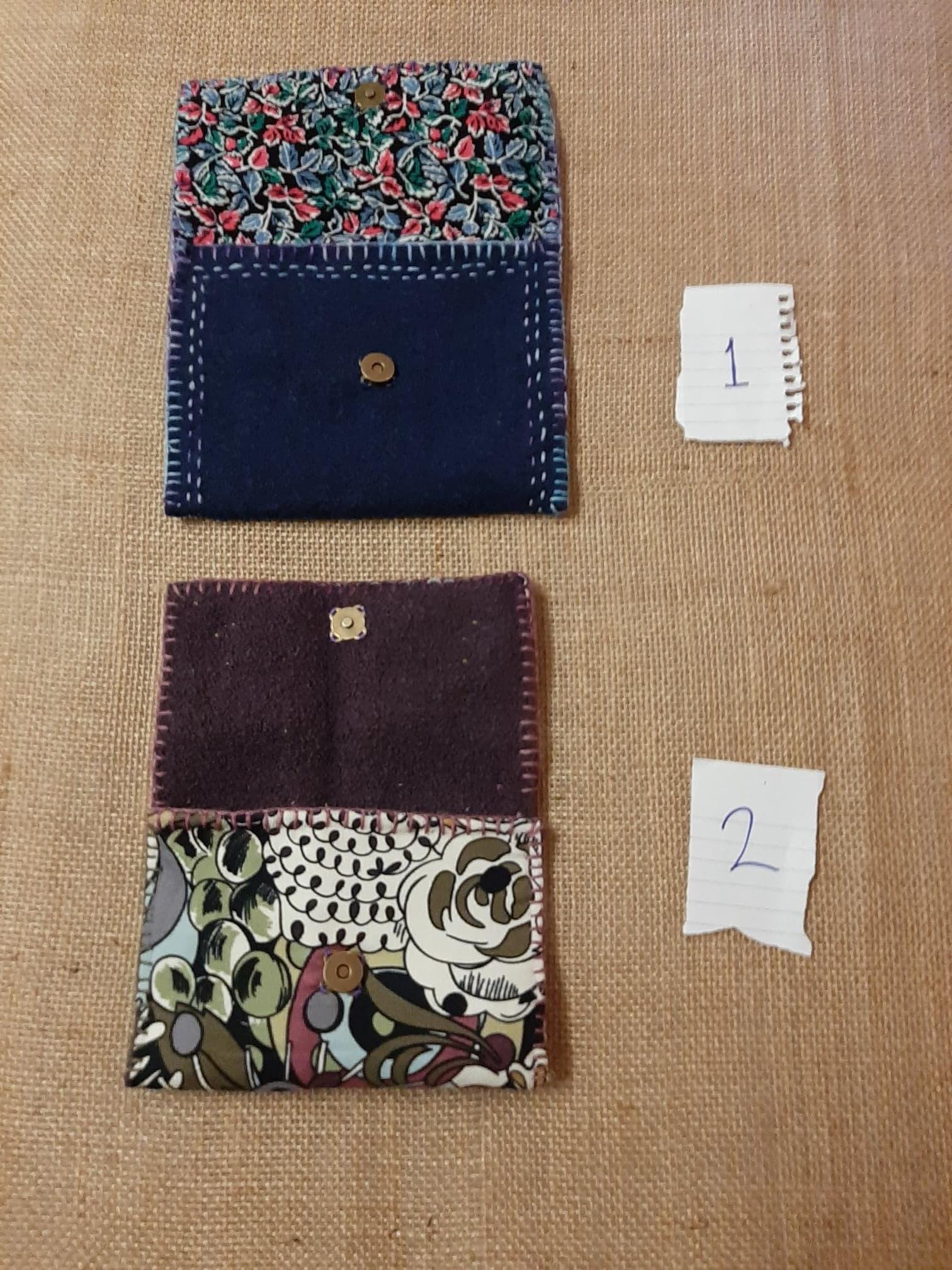 Handmade Felt & Cotton purse.
