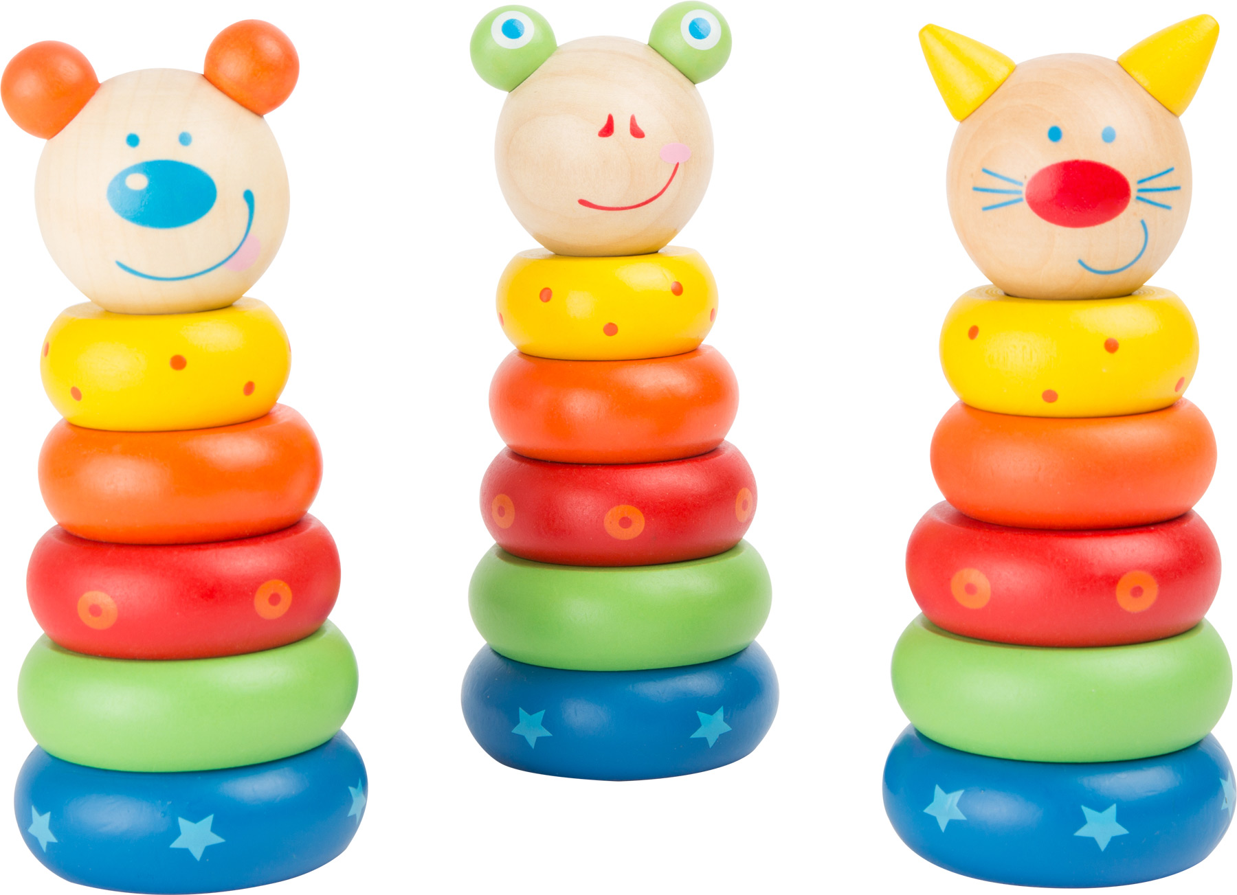 Wooden animals stacking tower