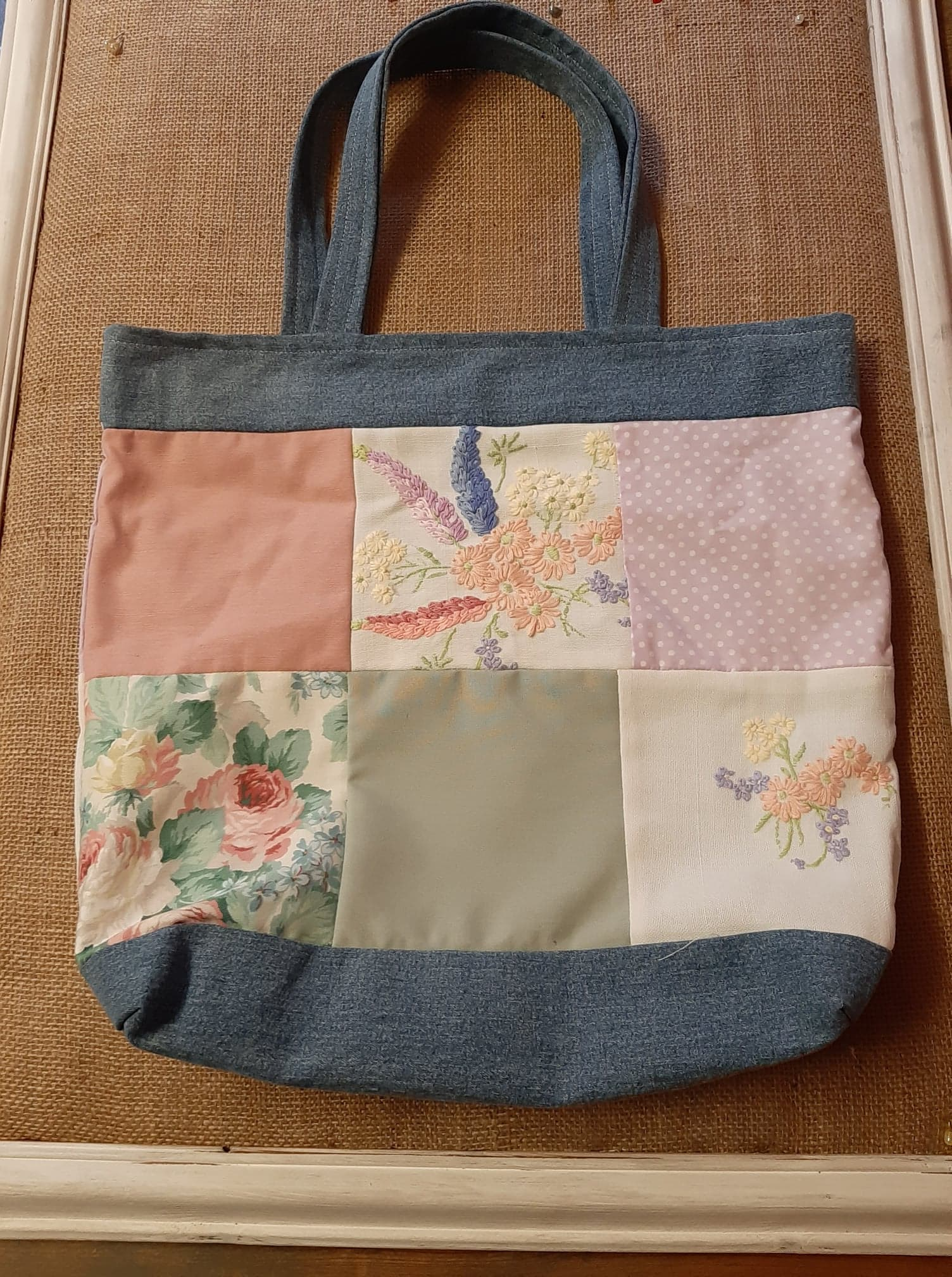 Handmade cotton carrier bag