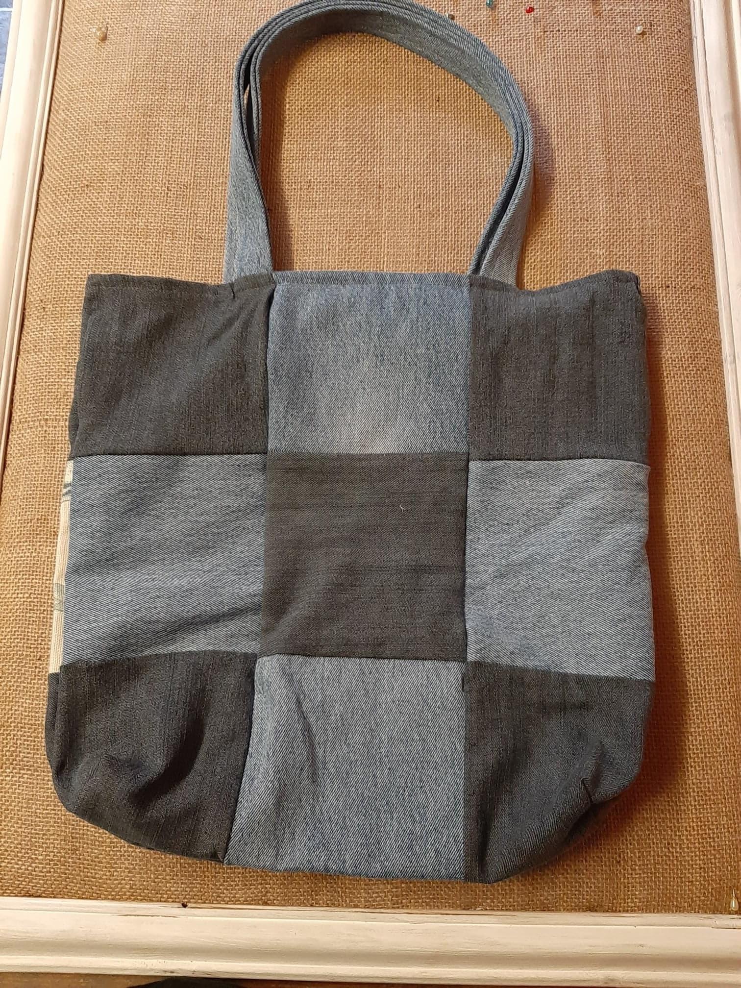 Handmade cotton carrier bag