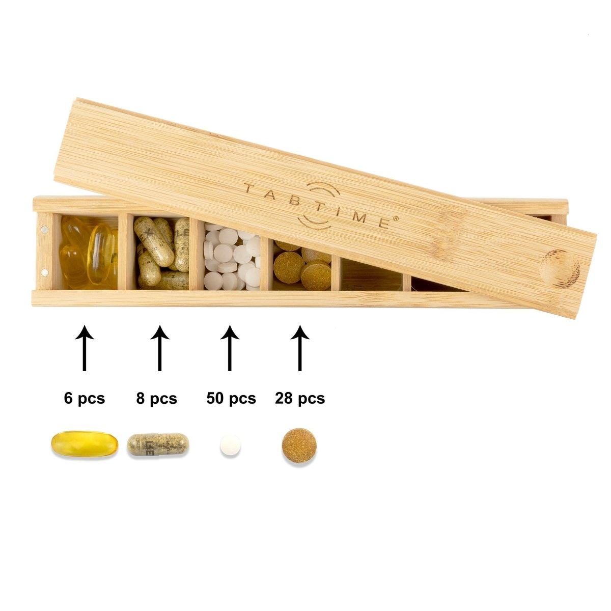 Bamboo Weekly Pill Box