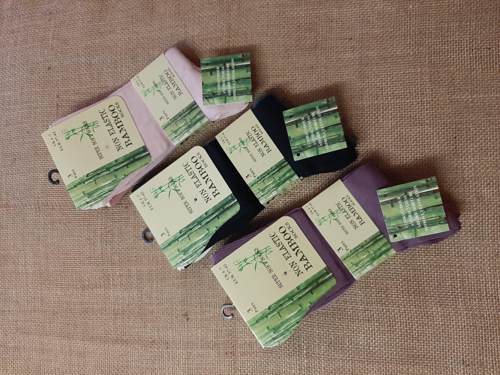 Socks Ladies Plain Soft Bamboo