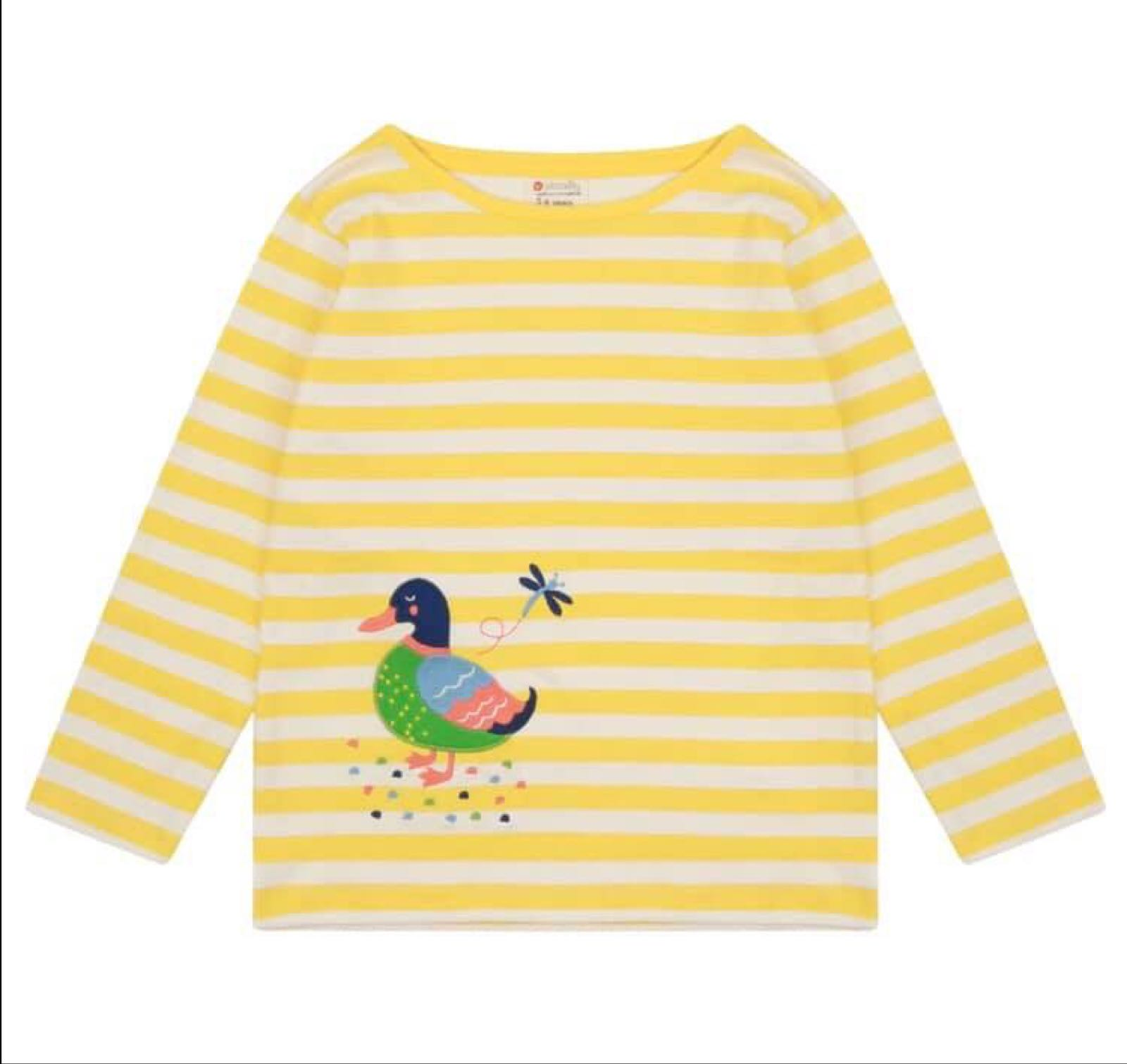 Piccalilly Duck Stripe Top