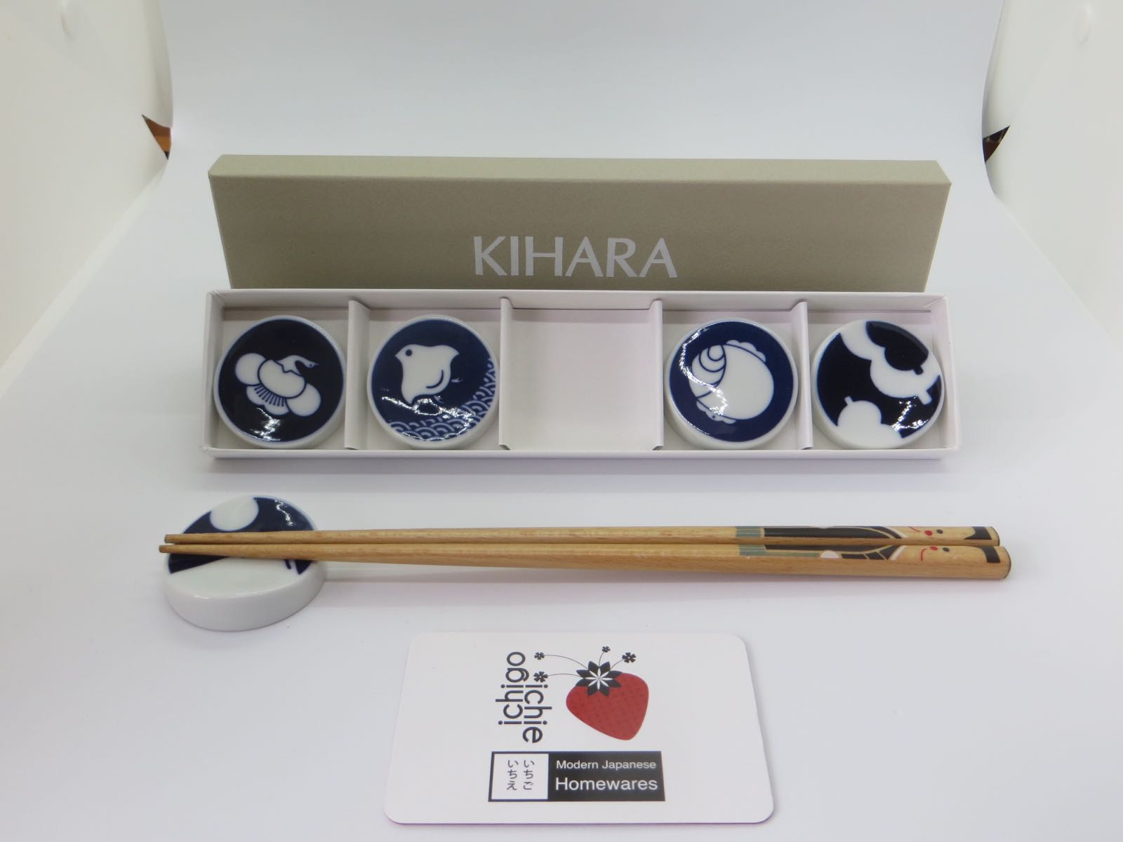 KIHARA Chopstick Holders Komon (Set of 5)