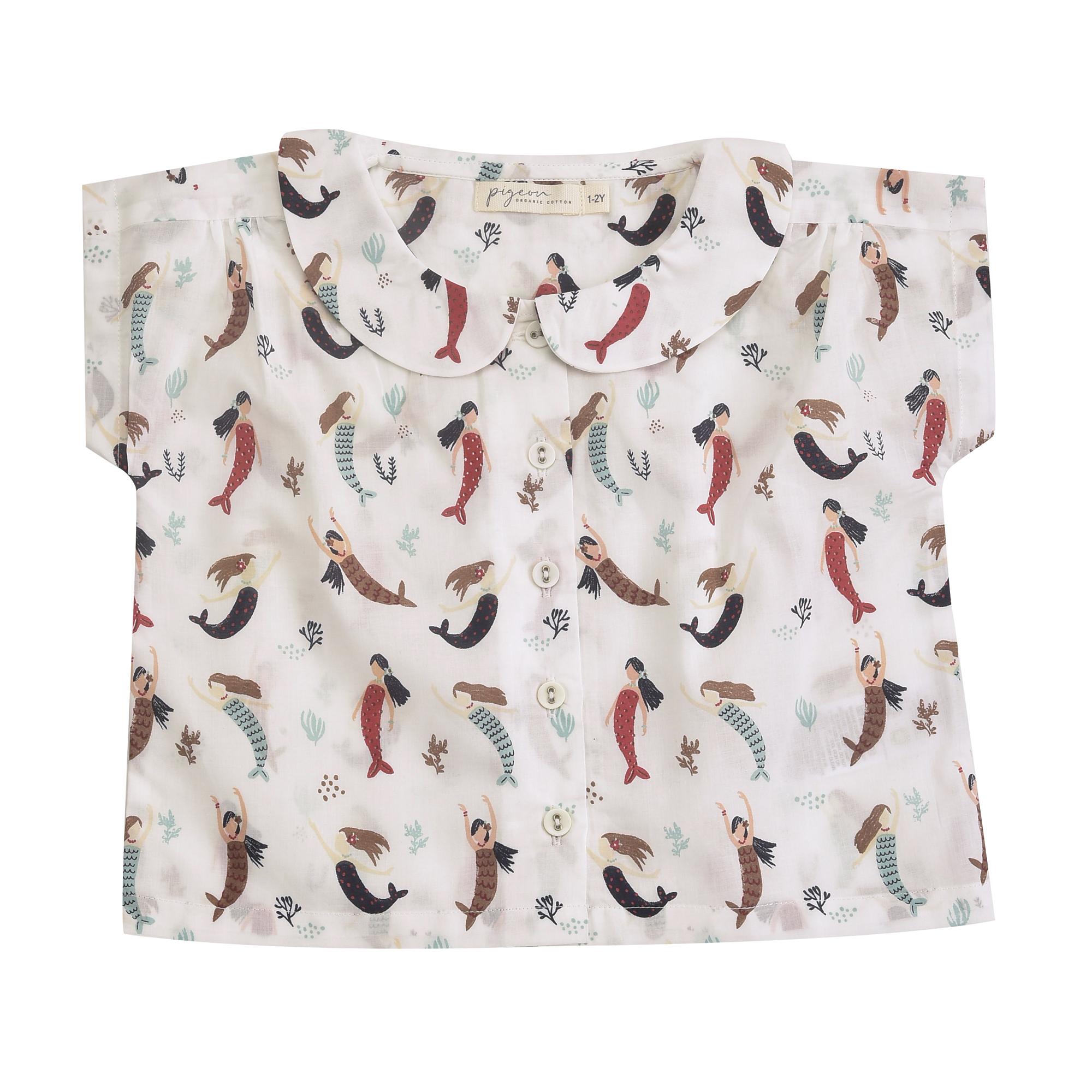 Pigeon Organics Peter Pan Collar Bluse