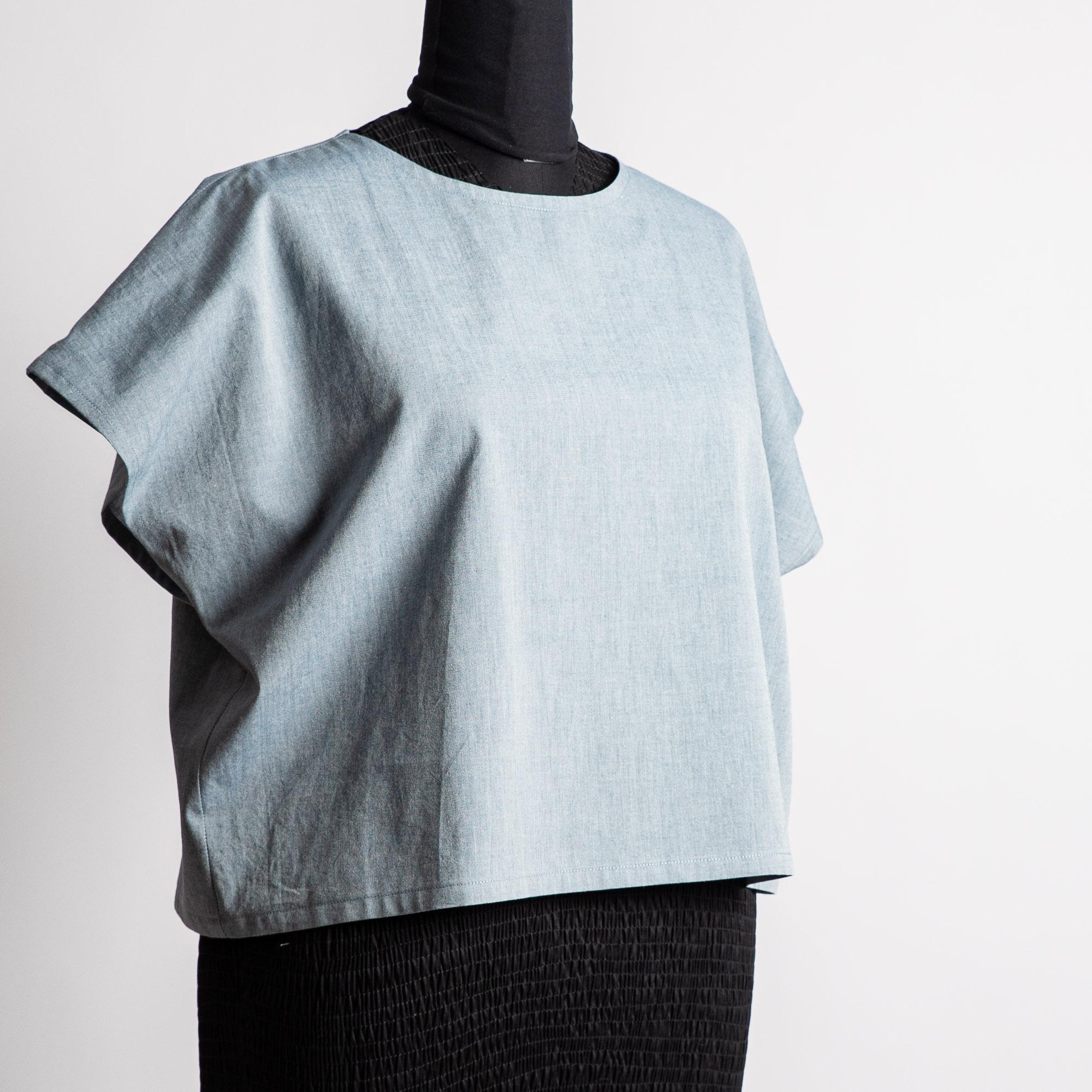 Bergsviol blus | Storlek XL