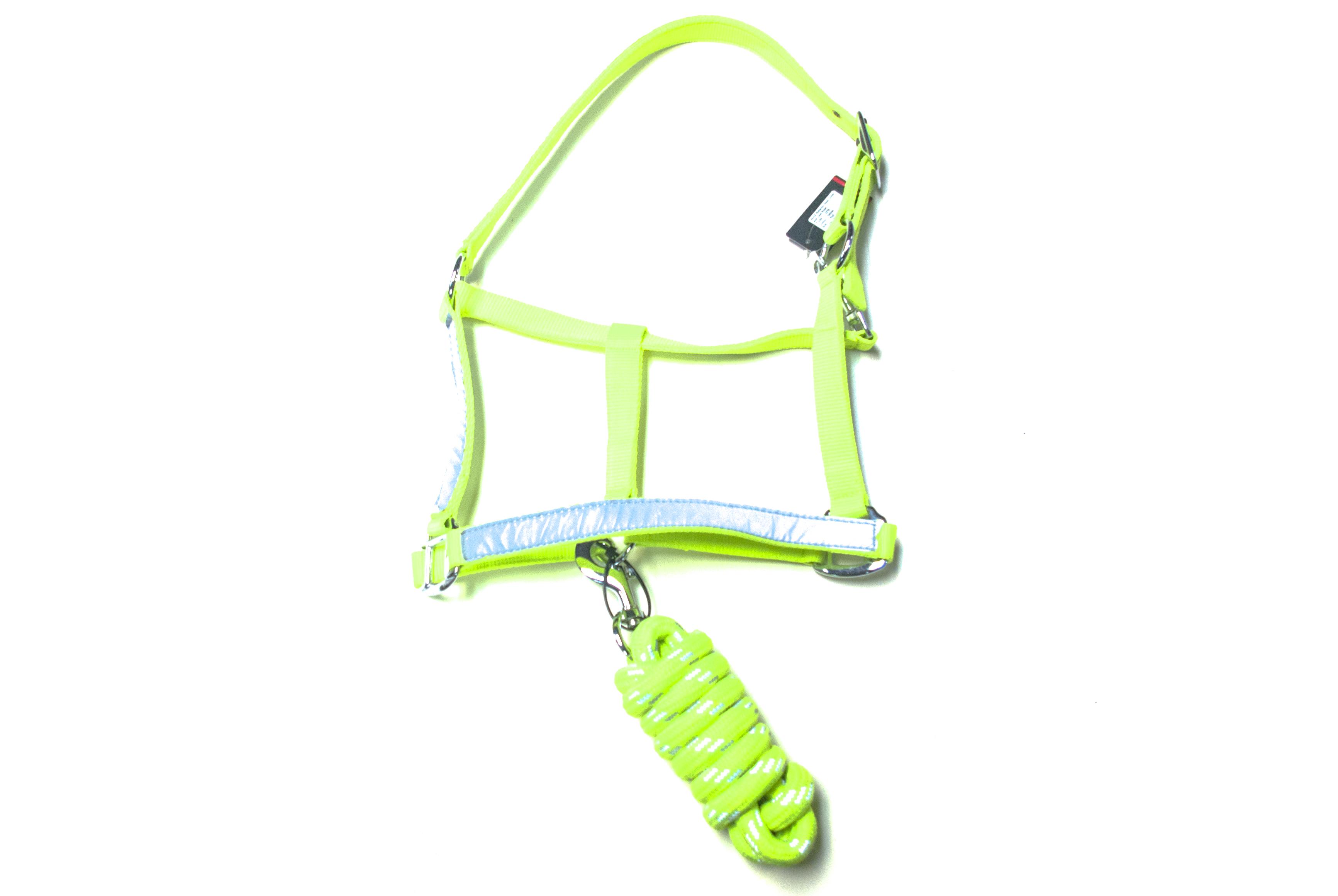 Hy Hi Vis headcollar and lead rope set