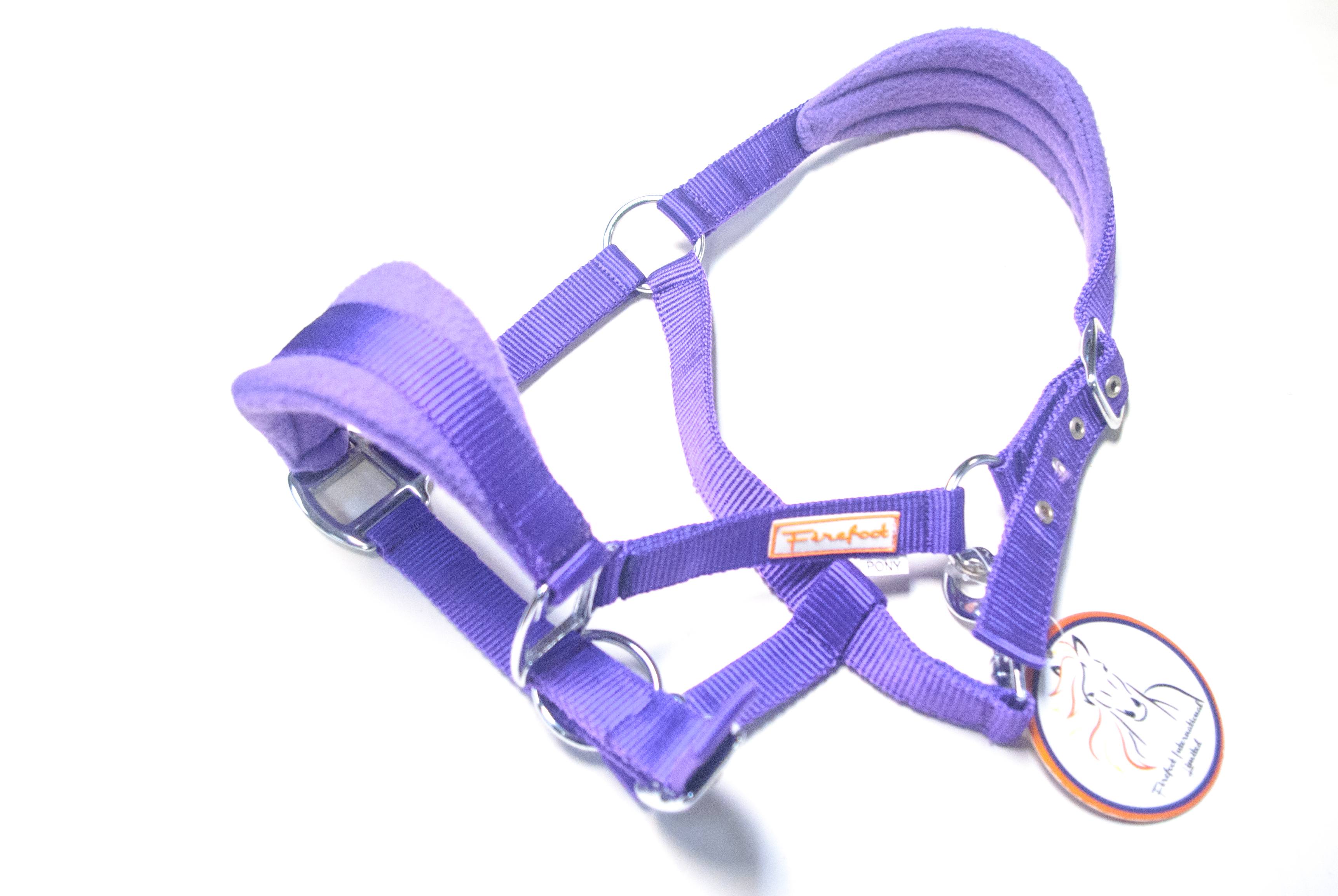 Firefoot purple pony fleece headcollar
