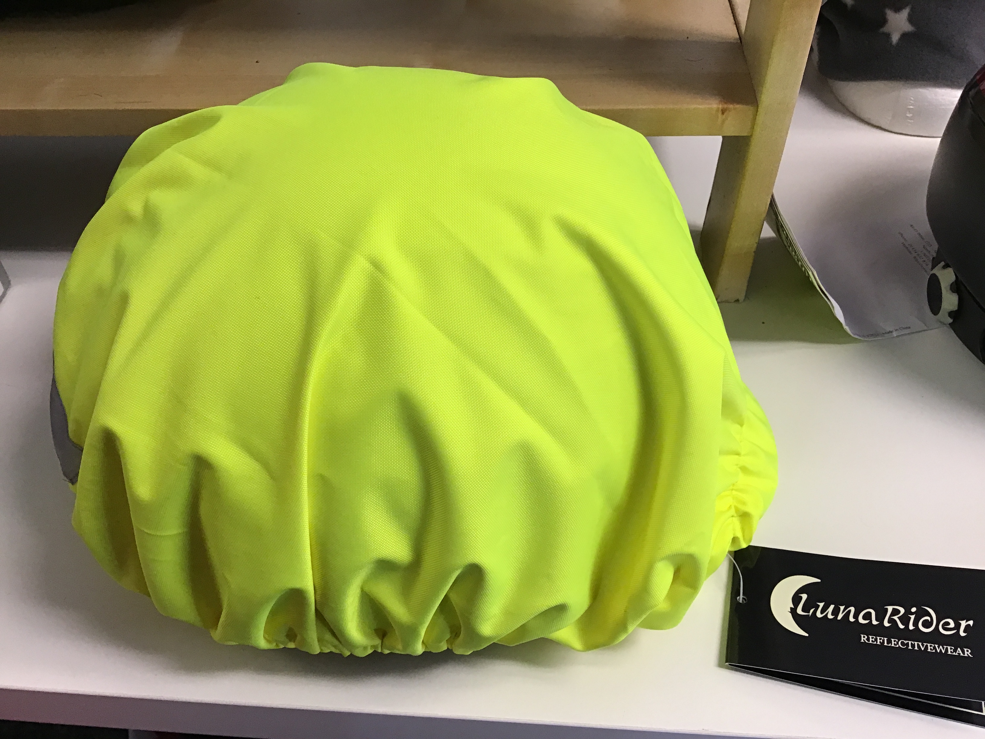 Luna Rider HiViz Hat Cover Yellow