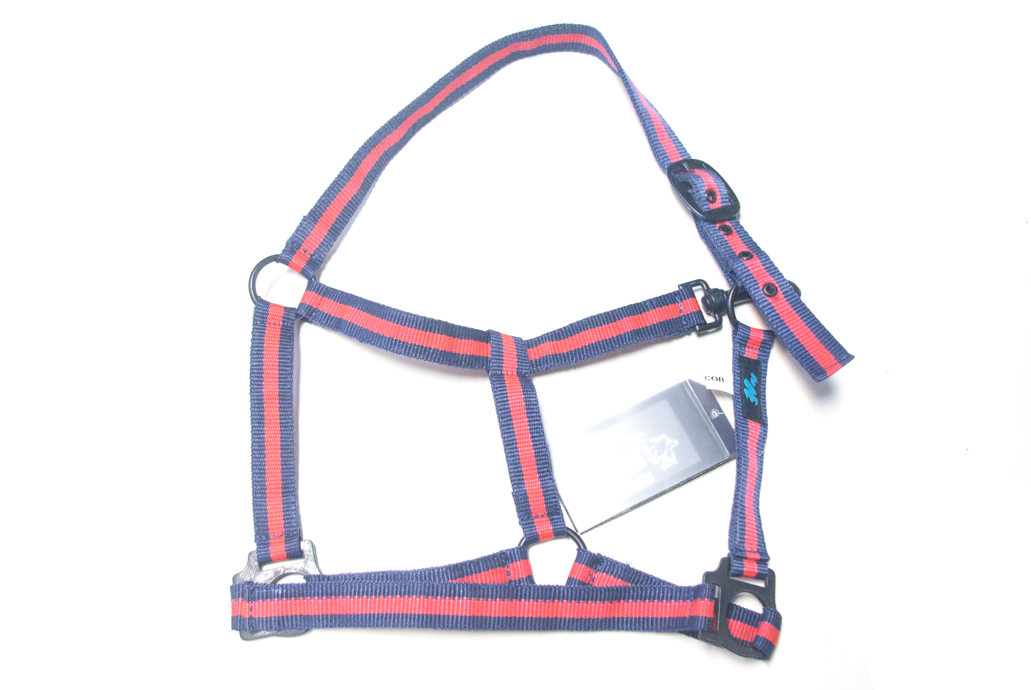 Hy Duo headcollar Navy/Red cob