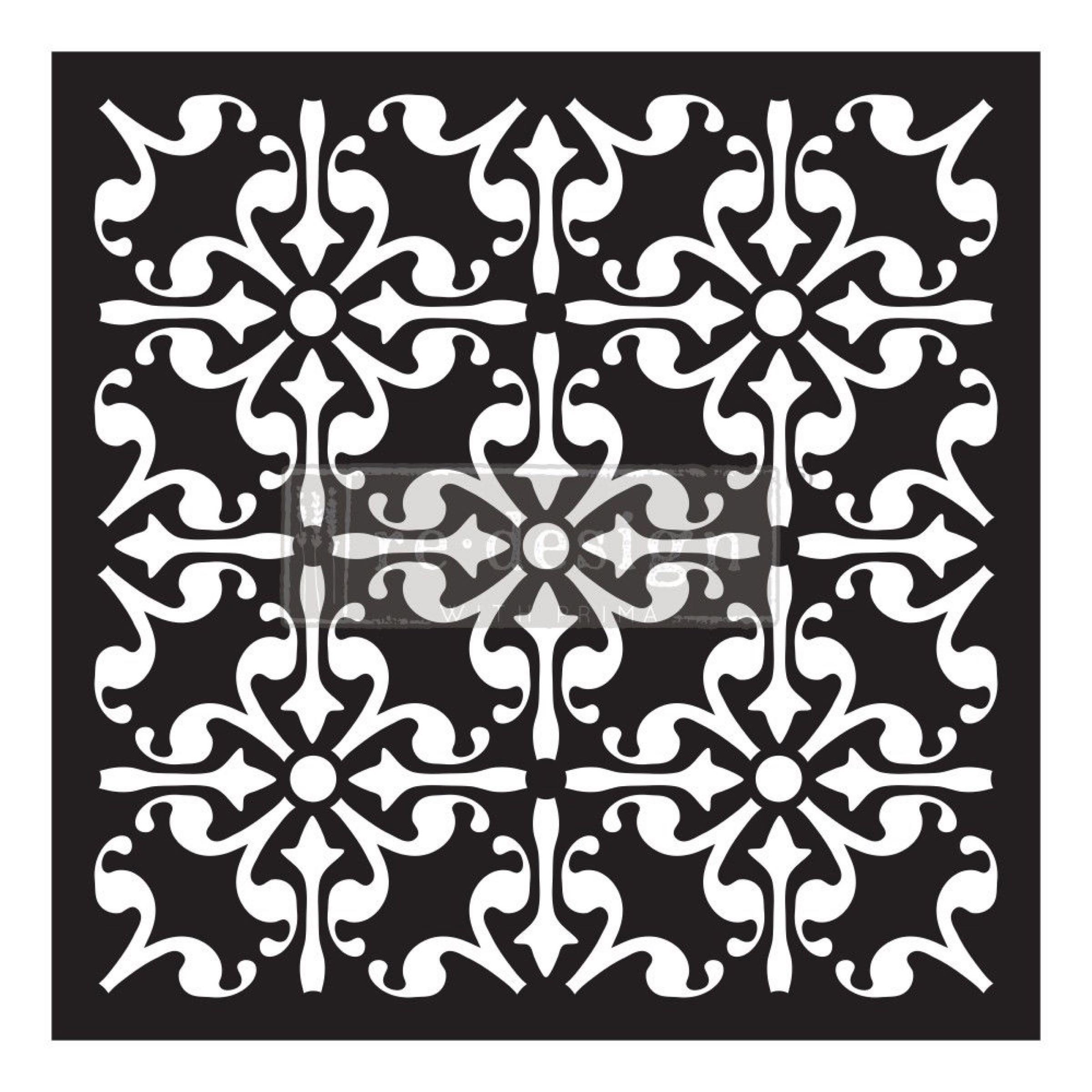 Re-Design with Prima Concrete Paver Stencil / Heller Sjablong - Lucia